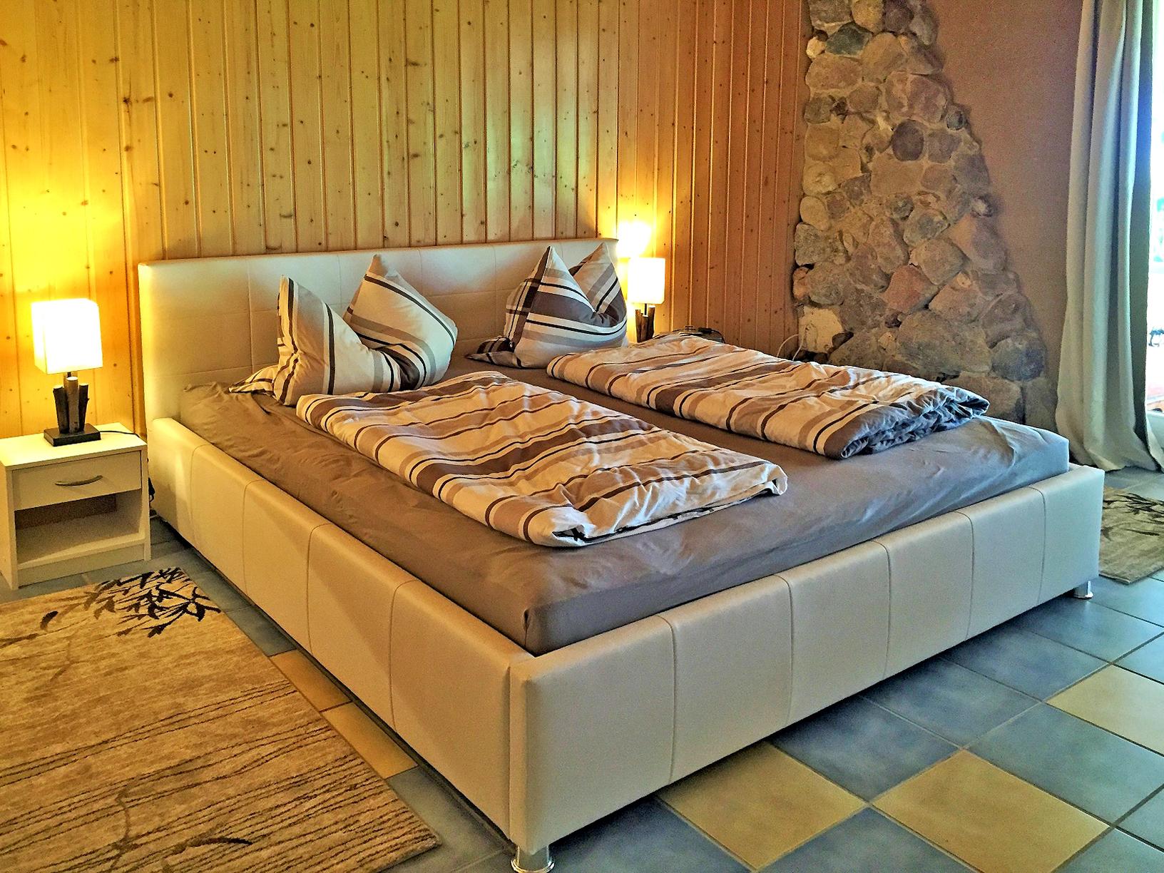 Schlafzimmer im Ferienhaus Inselland