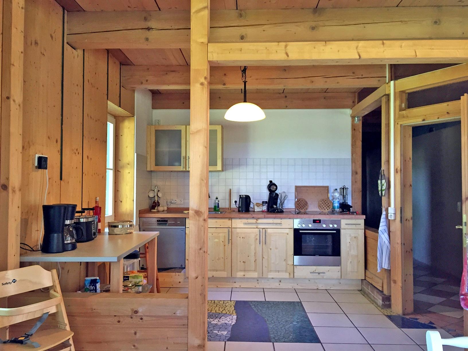 Wohnküche im Ferienhaus Inselland